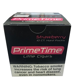Prime Time Little Cigars Strawberry 10 Packs of 10