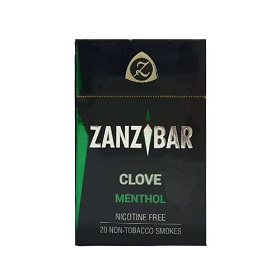 Zanzibar Herbal Clove Smokes - Menthol (Single Pack)
