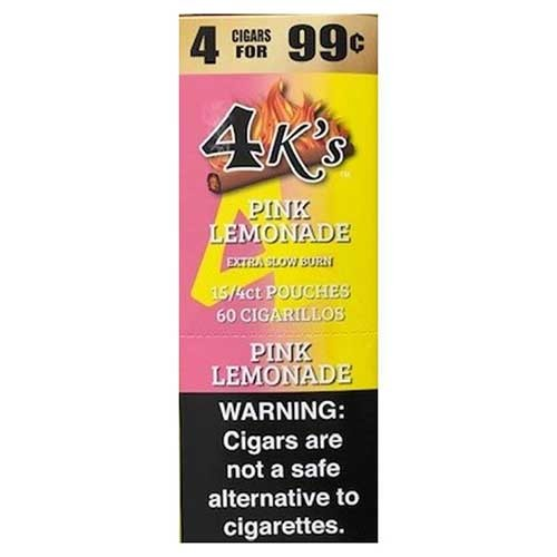 4 Kings Cigarillos Pink Lemonade Pre-Priced
