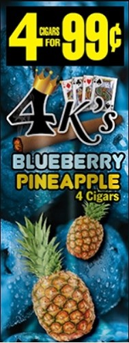 4 Kings Cigarillos Blueberry Pineapple Pre-Piced