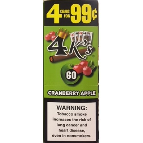 4 Kings Cigarillos Cranberry Apple Pre-Priced