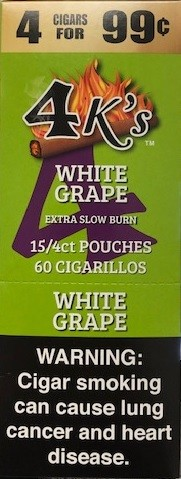 4 Kings Cigarillos White Grape Pre-Priced