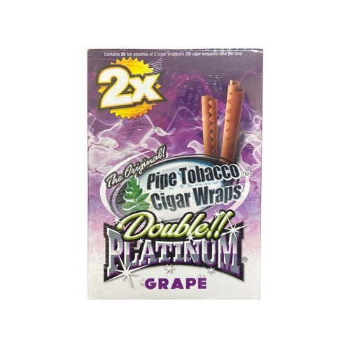 Double Platinum Blunt Wraps Grape 2X