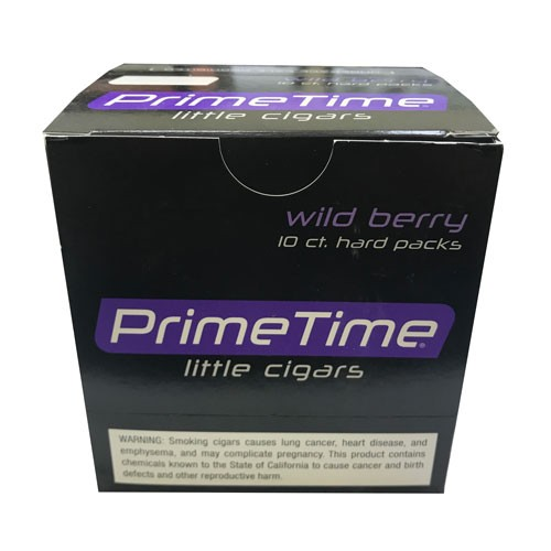 Prime Time Little Cigars Wild Berry 10 Packs of 10