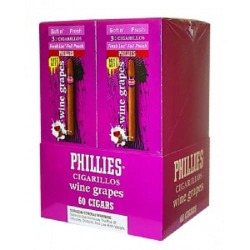 Phillies Cigarillos Wine Grapes Foil Fresh