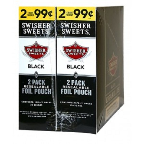 Swisher Sweets Cigarillos Foil Pack Black Pre-Priced
