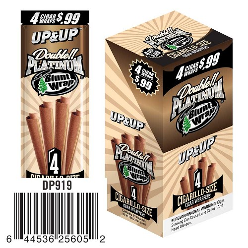 Double Platinum Blunt Wraps Up&Up Pre-Priced 4 for $0.99