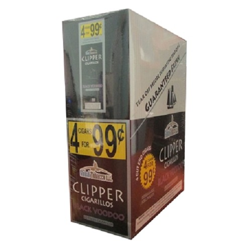 Clipper Cigarillos Black Voodoo 15/4 Pouch Pre-Priced