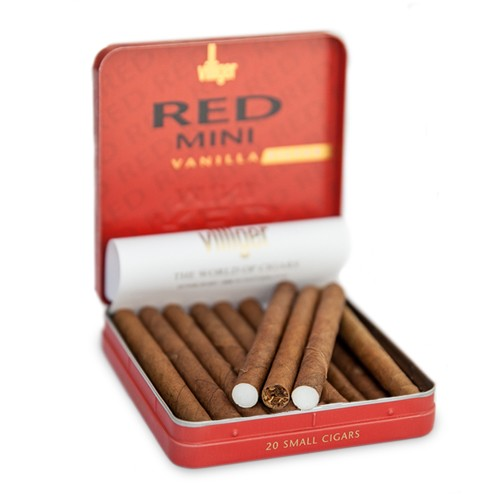 Villiger Mini Cigarillos Vanilla NON Filtered (5 Tins of 20)