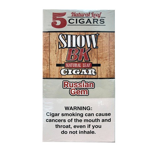 Show BK Natural Leaf Cigars Russian Gem - 8x5 Pack