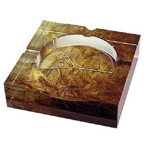 Tobacco Leaf Glass Cigar Ashtray
