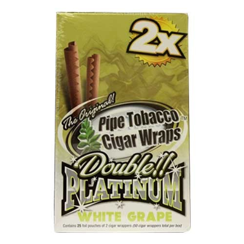 Double Platinum Blunt Wraps White Grape 2X