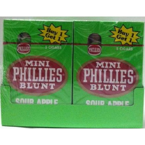 Phillies Mini Blunt  Sour Apple Pack B1G1