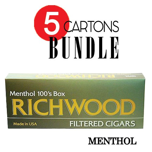 Richwood Filtered Cigars Menthol Bundle5