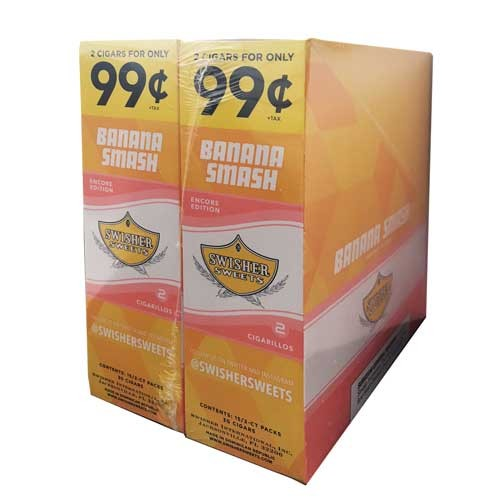 Swisher Sweets Cigarillos Foil Banana Smash Pre-Priced