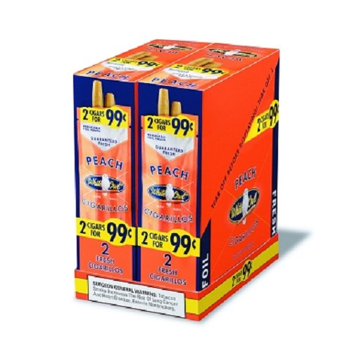 White Owl Cigarillos Foil Fresh Peach Pre-Priced