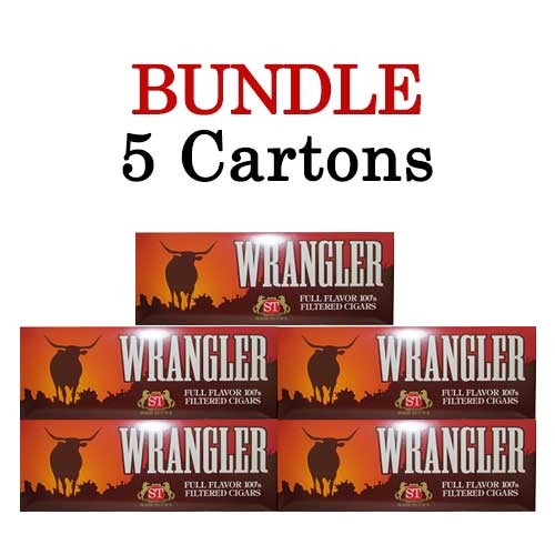 Wrangler Filtered Cigars Full Flavor  BUNDLE 5
