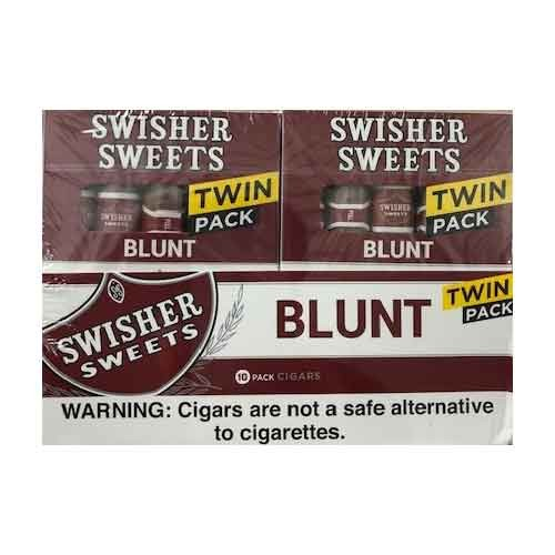 Swisher Sweets Blunt Cigars Natural TWIN Pack